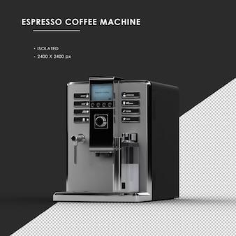 상단 직각보기에서 절연 된 espesso 커피 머신