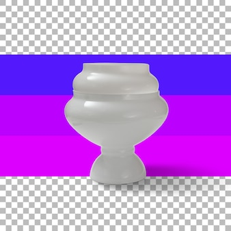 Isolated glass vase