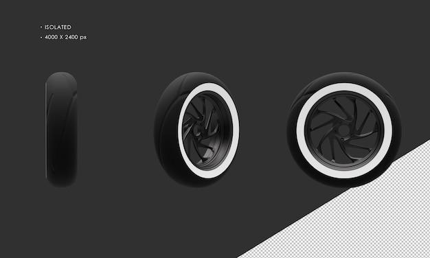 分離されたグランドモーターサイクルバイクダーククロームリアホイールリムとタイヤ