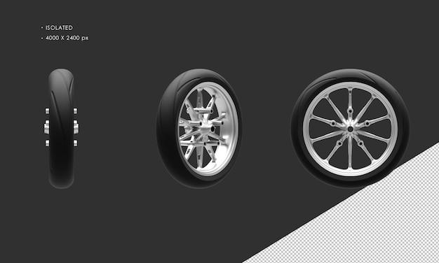 分離されたグランドモーターサイクルバイクグレークロームフロントホイールリムとタイヤ