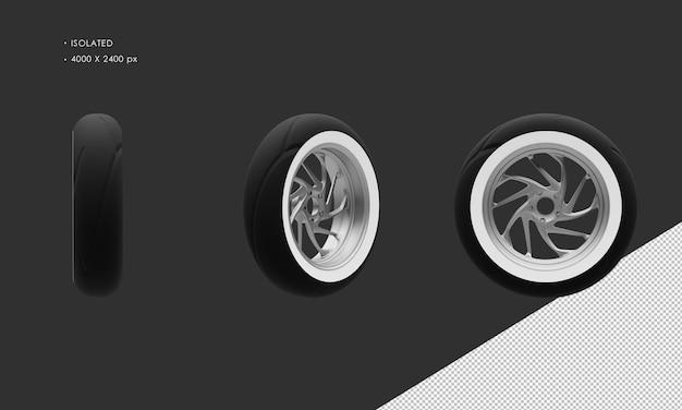 分離されたグランドモーターサイクルバイクグレークロームリアホイールリムとタイヤ
