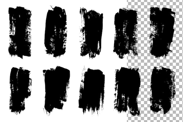 Isolated grunge brush collections