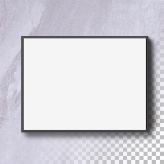 Изолированные горизонт пустая фоторамка на стене