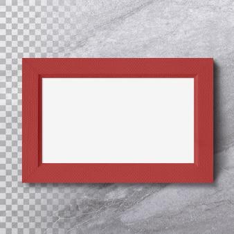 Изолированные горизонт пустая фоторамка на стене Premium Psd