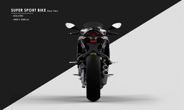 背面から分離されたジェットブラックスーパースポーツバイク