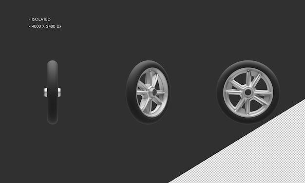 孤立した子供用三輪車の自転車のホイールのリムとタイヤ Premium Psd