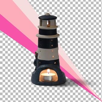 孤立した灯台のおもちゃ