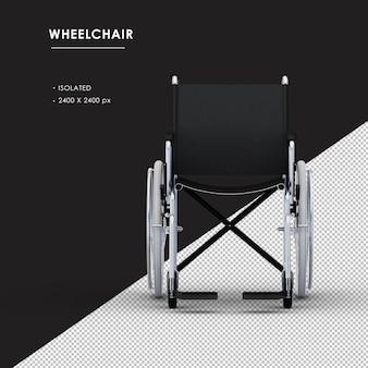 전면보기에서 격리 된 금속 휠체어