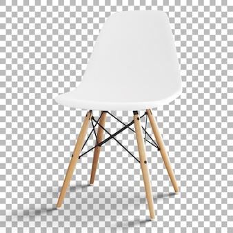 Изолированный минималистский простой стул с прозрачностью