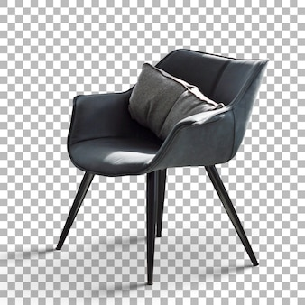 투명도가 있는 격리된 미니멀리스트 간단한 의자