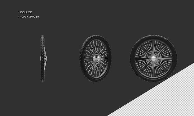 孤立したマウンテンバイク自転車のホイールリムとタイヤ