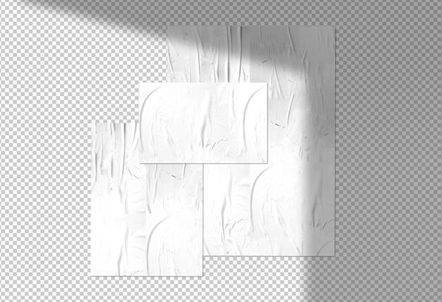 Изолированный пакет из трех плакатов Бесплатные Psd