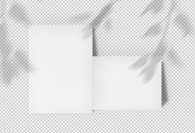 Изолированные пакет два плаката с тенью