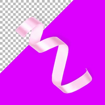Изолированные розовая лента вид сверху
