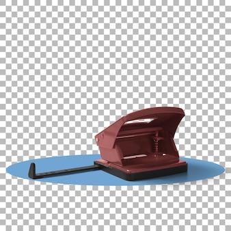Изолированные красный бумажный перфоратор Premium Psd
