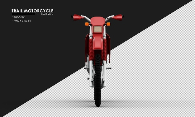 Изолированные красный след мотоцикл от вида спереди