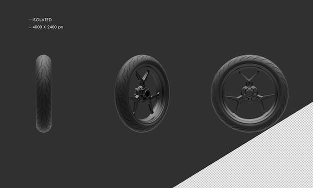 分離されたスーパースポーツバイクオートバイダーククロームフロントホイールリムとタイヤ