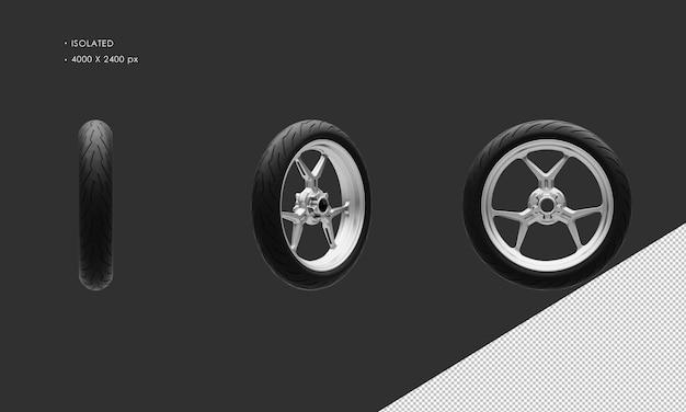 分離されたスーパースポーツバイクオートバイグレークロームフロントホイールリムとタイヤ