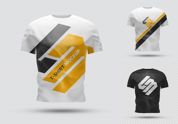 Isolated t-shirt with shadow mockup