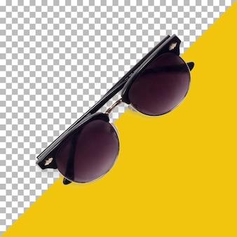 투명도에 고립 된 빈티지 안경