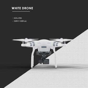 Изолированные белый дрон от вида спереди