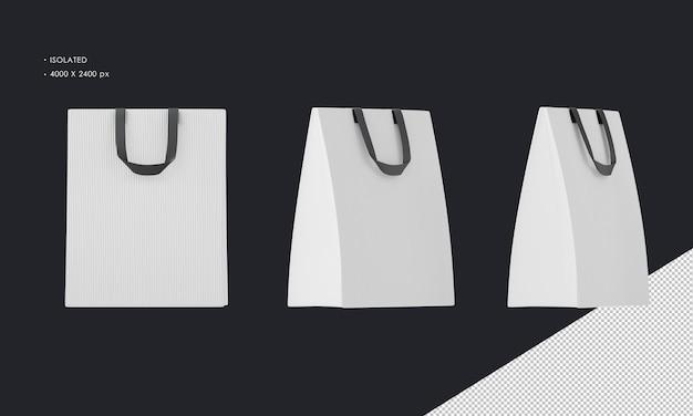 Изолированные белые хозяйственные сумки