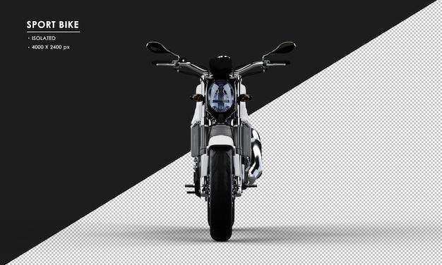 正面から分離された白いスポーツバイク