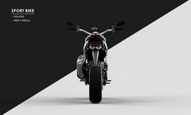 背面から分離された白いスポーツバイク