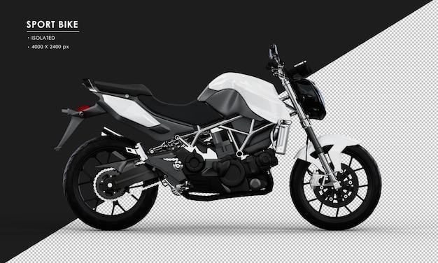 右側面図から分離された白いスポーツバイク