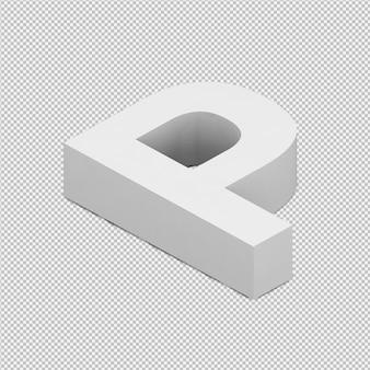 Isometric alphabet 3d isolated render