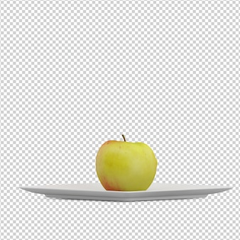 Isometric apple