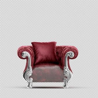 Рендеринг изометрические кресло 3d