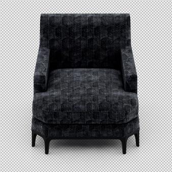 Isometric armchair 3d rendering