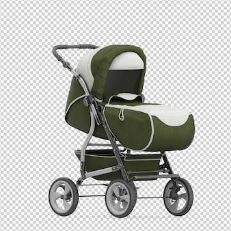 Isometric baby stroller