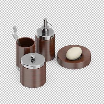 Isometric bathroom accessories