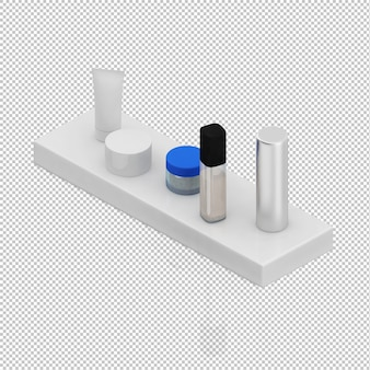 Isometric bathroom accessories