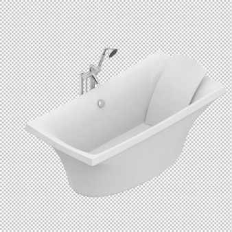 Isometric bathtub