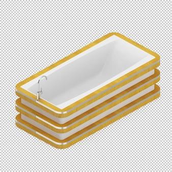 Isometric bathtub