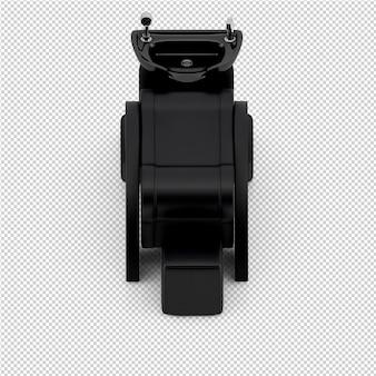 아이소 메트릭 뷰티 액세서리 3d 절연 렌더링