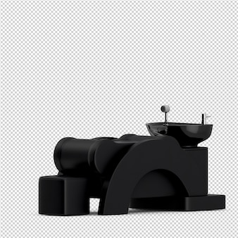 Isometric beauty accessories 3d isolated render