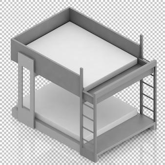 Изометрическая кровать