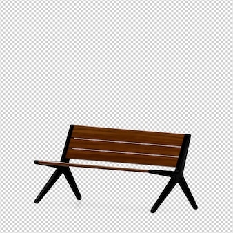 Изометрическая скамейка 3d визуализации