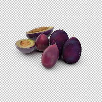 Isometric blue plum