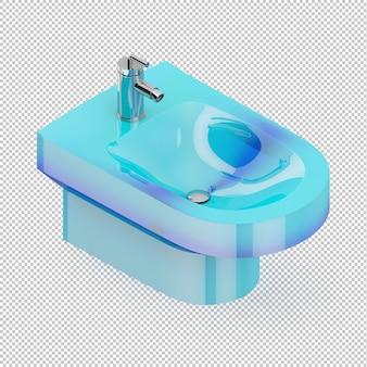 Isometric blue sink