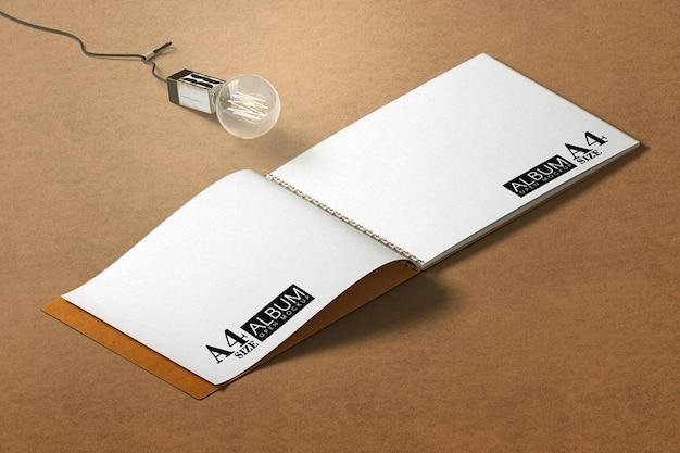 Изометрический макет книжного альбома