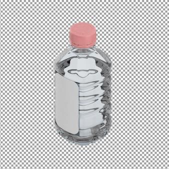 Isometric bottle of water