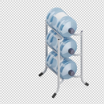 Isometric bottle of water
