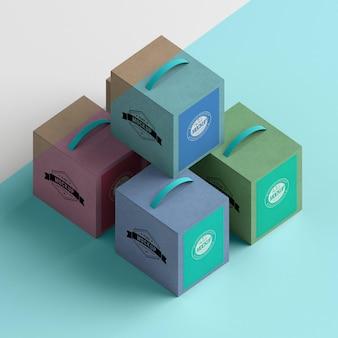アイソメトリックボックス配置高角度
