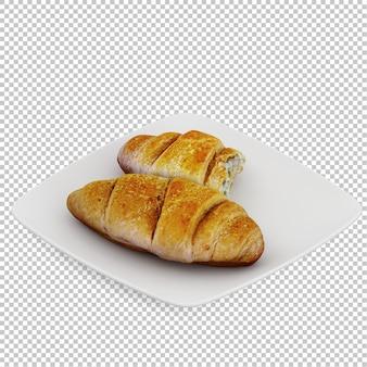 Изометрический хлеб деревянная разделочная доска