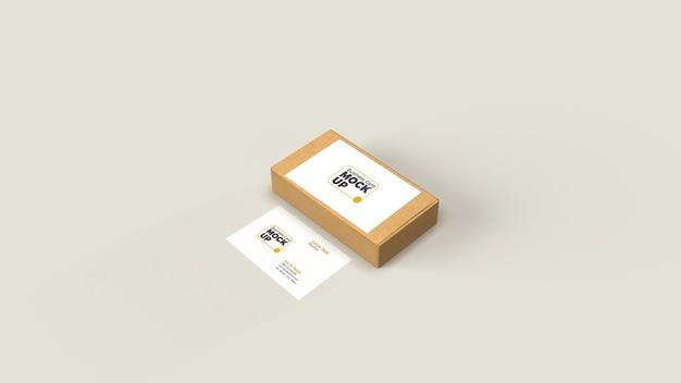 Изометрические макет визитной карточки изолированные